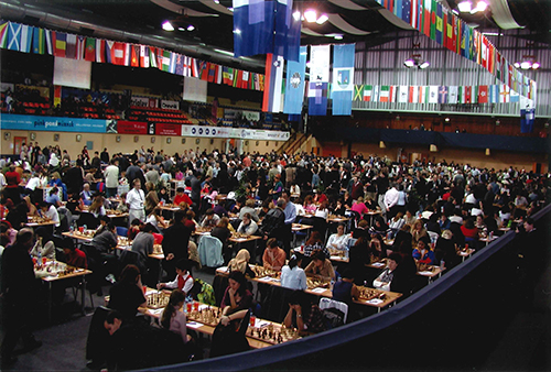 The Tournament Hall of the 2002 Olympiad