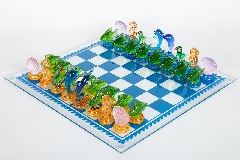 Fifth Avenue Crystal, Tropics Chess Set