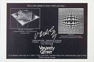 Vasarely Center Advertisement, 1979