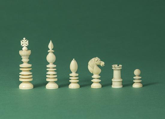 Windsor Castle Chess Set, c 1940-50s