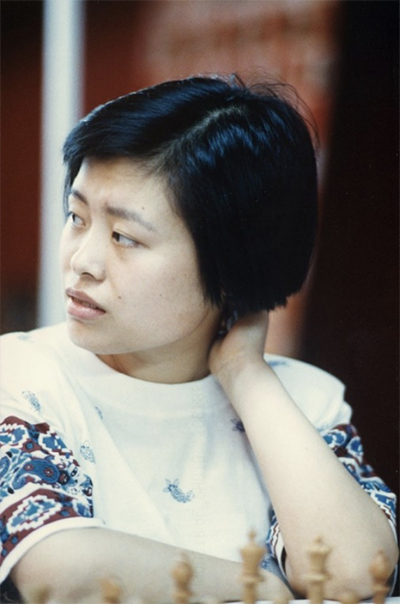 GM Xie Jun at the 1992 Chess Olympiad