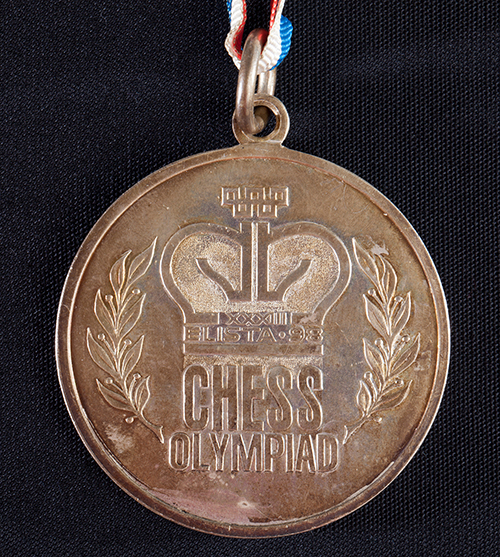 GM Yasser Seirawan's Team Silver Medal from the 1998 Olympiad