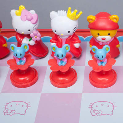 Sababa Toys/Sanrio, Hello Kitty Chess Game in Deluxe Collector Tin, 2004