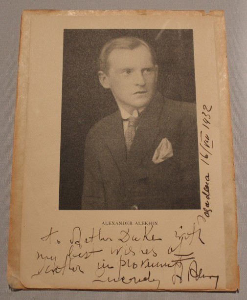 alekhine-signed-picture