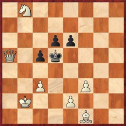 Chess problem by Edith Baird, Solution below